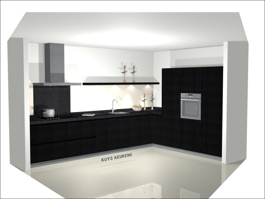 tekening, simar, kuys keukens, keuken zwart wit, design, ontwerp, wij maken de keuken van uw dromen