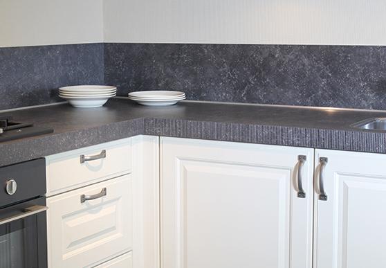 ... Beton Composiet: Beton cir nieuw keramisch keukenblad in de afwerking