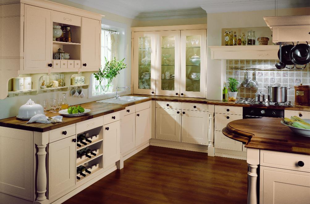 hout, keuken met een houten aanrechtblad